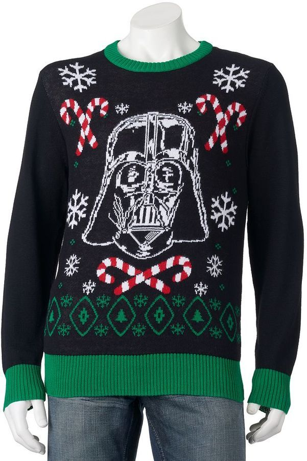 Men's Star Wars Darth Vader Scarf Holiday Sweater