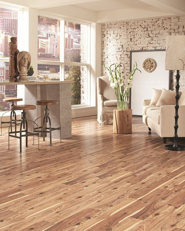 Shop Allen Roth 12mm Winsome Cypress Embossed Laminate Flooring At