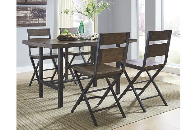 The Kavara 5 Piece Dining Set Elevates Industrial Chic Style In