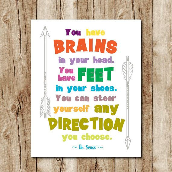 Dr Seuss quote print, childrens room decor, playroom print, dr seuss ...