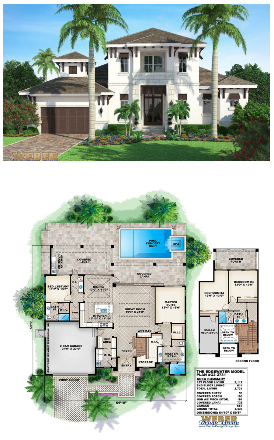 Beach house plan transitional west indies beach home for 3 bedroom caribbean house plans