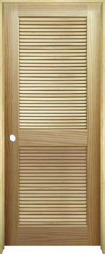 Mastercraft Pine Full Louvered Prehung Interior Door At Menards
