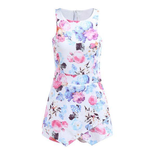 0e965f450c36 SheIn(sheinside) Sleeveless Floral Bodycon White Dress (€20 ...