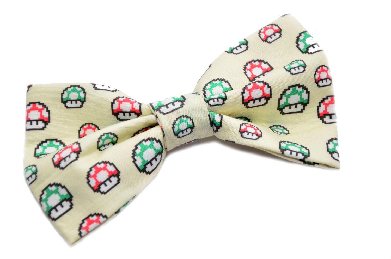 Super Mario Mushroom Hair Bow 7 99 Via Etsy
