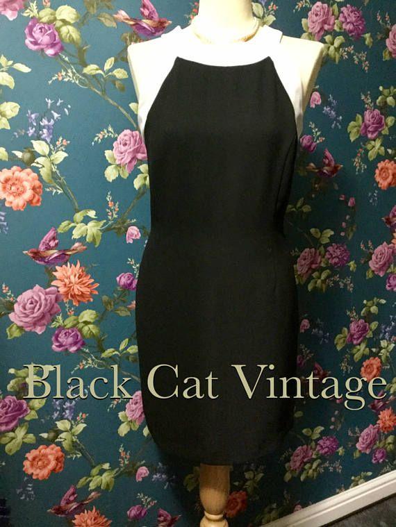 Ladies Black Fitted Wallis Dress Uk 12 White Black Smart Dresses Wallis Dress Dresses Uk