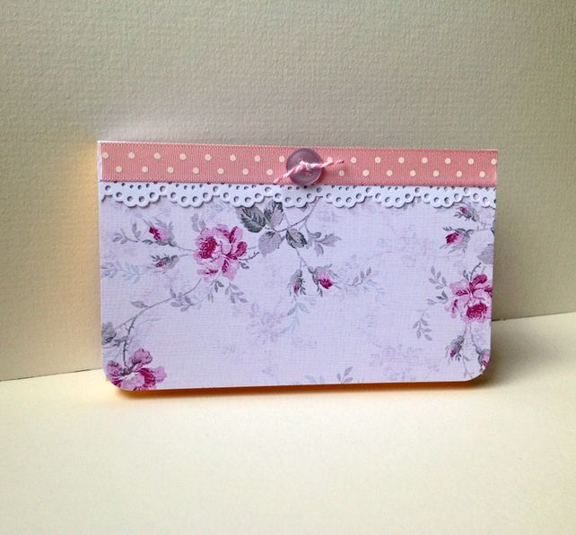 Vintage Floral Design Notebook, Sticky Notes Pages,Handmade Notebook by Stephanie Short Stationery