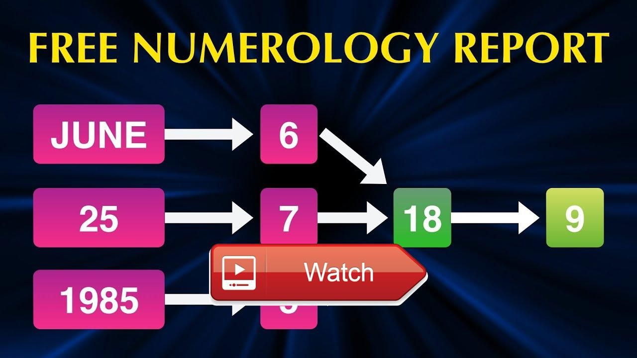 Numerology report by date of birth