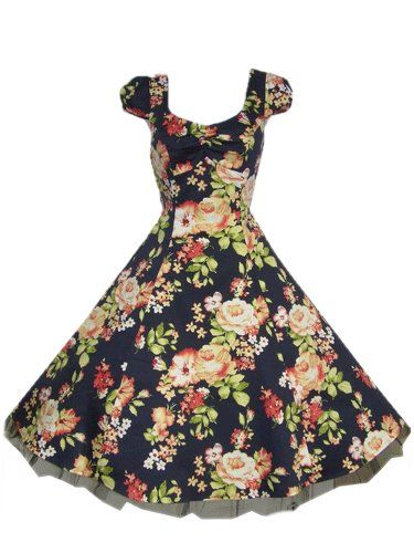 Navy floral dress £32.50