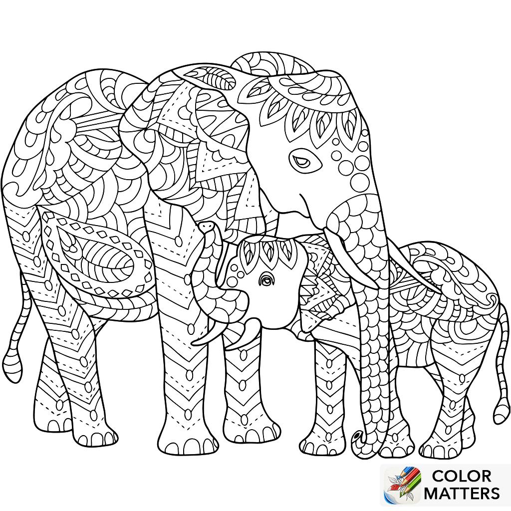 elefanten zum ausmalen und ausdrucken - coloring page mooo