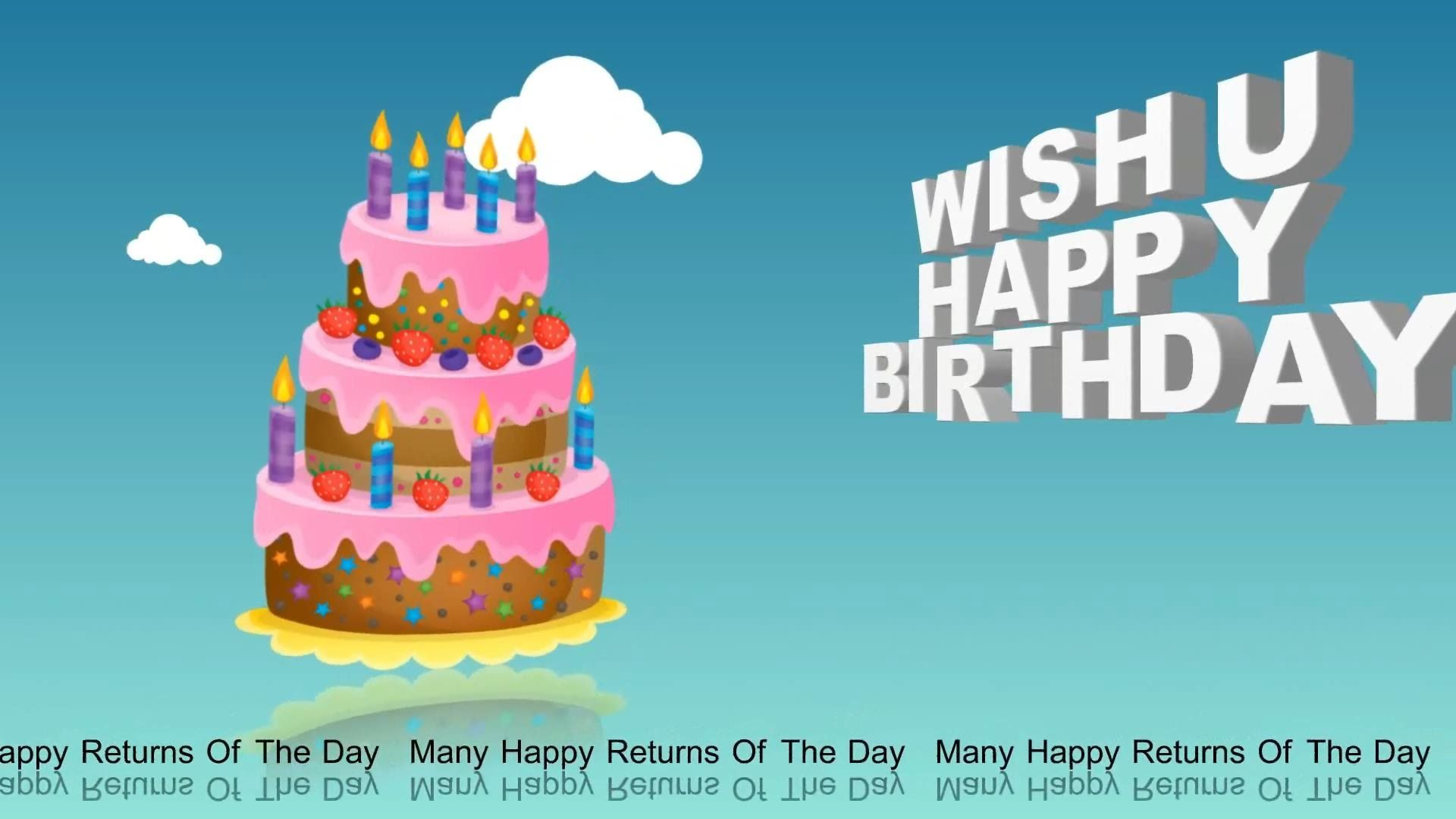 Happy Birthday Greetings Animation Whatsapp Video B