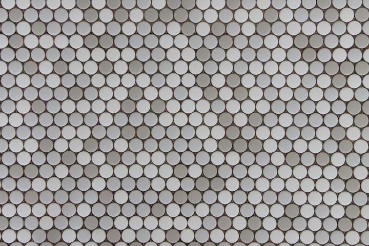 Vetro D Terra Calacatta Penny Round Glass Mosaic Tiles Rocky Point Tile Glass And Mosaic Tile Store Mosaic