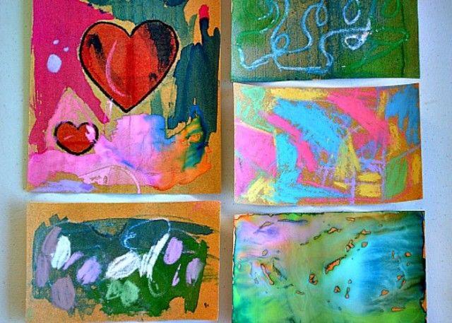 Art activities for kids : Sand paper art
