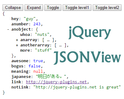 jQuery JSONView – Formats & Syntax Highlights JSON #json