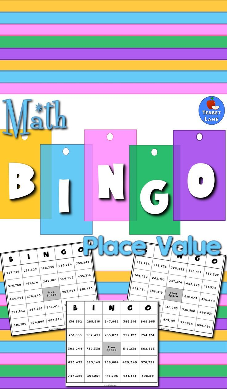 Place Value Bingo No Prep Math Game | Bingo games, Math and Learning