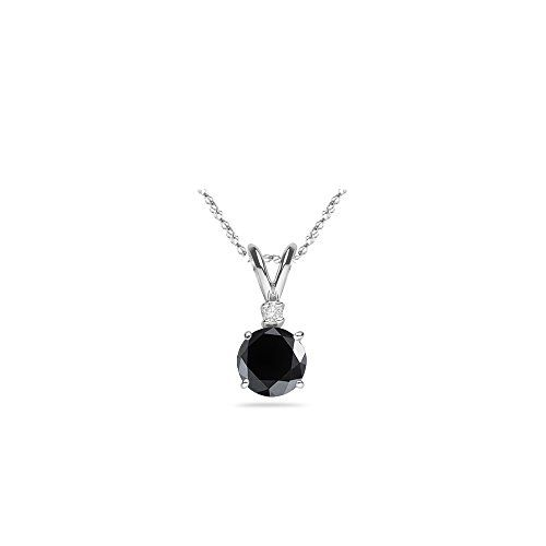 100 Ct AAA Black VS White Diamond Pendant in Platinum