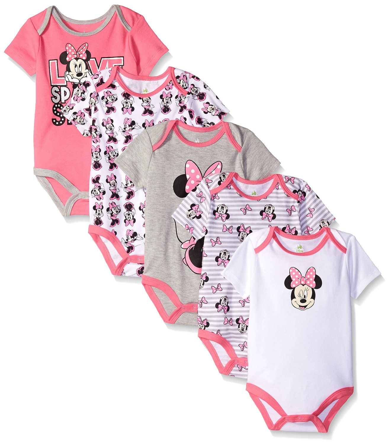 Disney Baby Girls Minnie Mouse 5 Pack Bodysuits You can