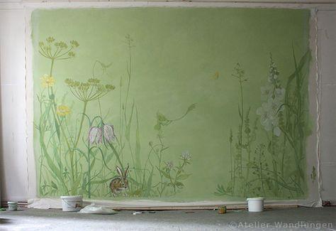 Bemalte Leinwand für ein Kinderzimmer Wandbespannungen