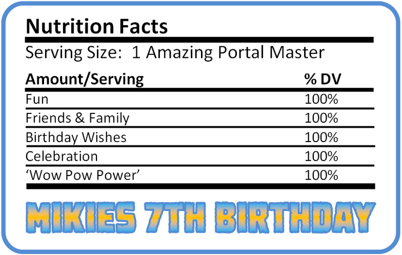 Skylanders Giants Party Decorations Uprint Coordinating Birthday Printables Default Nutrition Facts Cracked Png 78 Birthday Printables Birthday Wishes 100 Fun