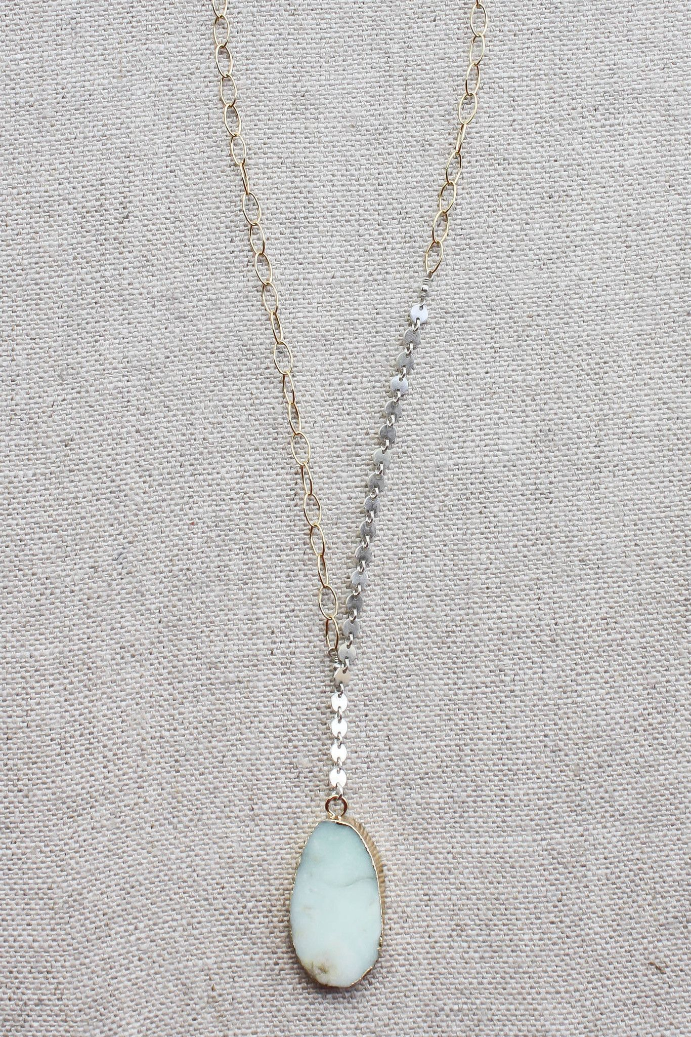B. Alli Light Turquoise Y Necklace