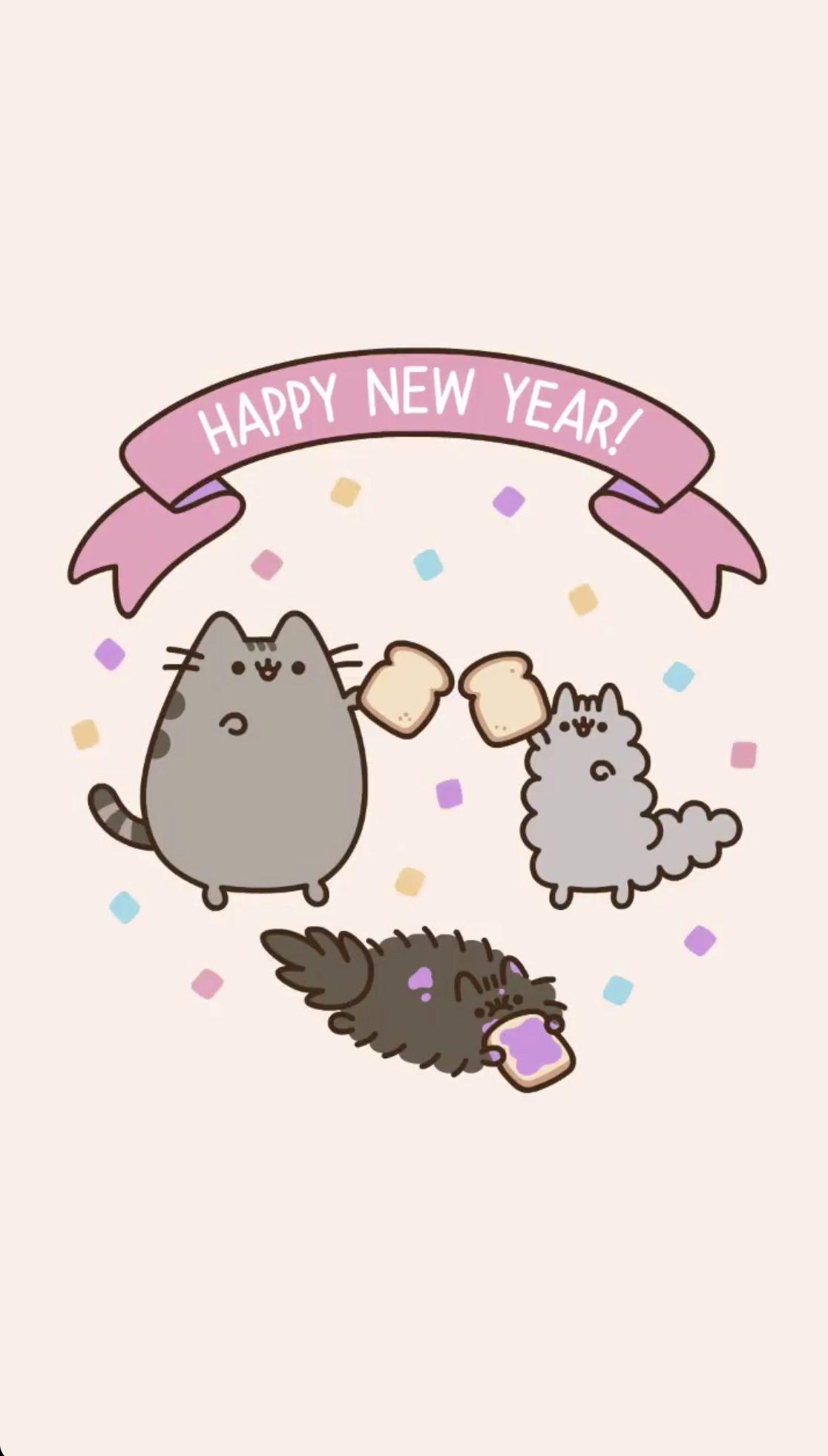 Happy New Year Pusheen Wallpaper Pusheen Cat Pusheen Cute Cat Wallpaper