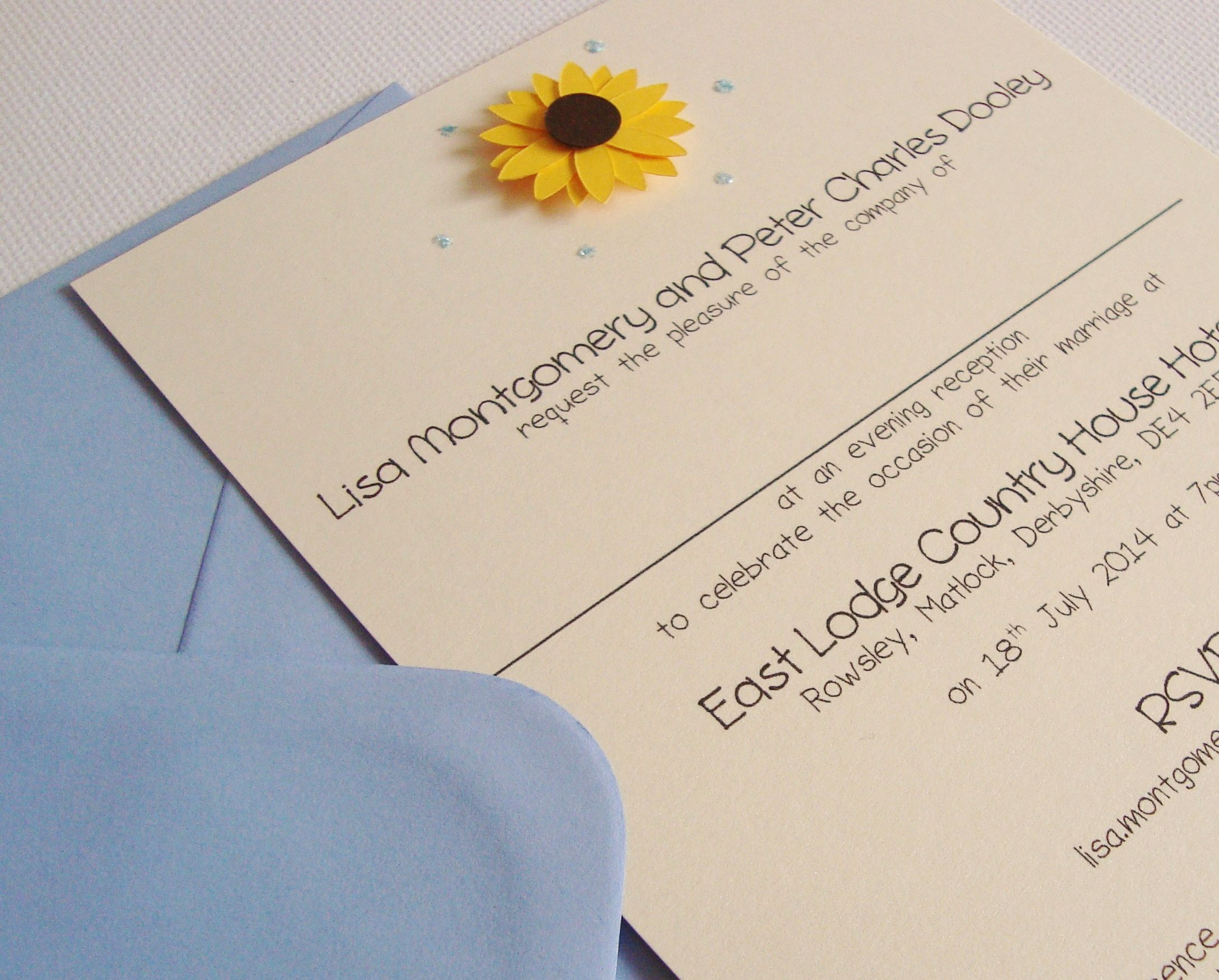 Sunflower Wedding Invitation Sunflower Weddings Pinterest