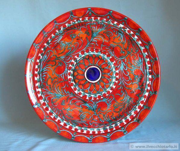 Piatto ceramica santo stefano camastra sicilia ceramic pinterest sicilia ceramica e ceramiche - Ceramiche santo stefano di camastra piastrelle ...