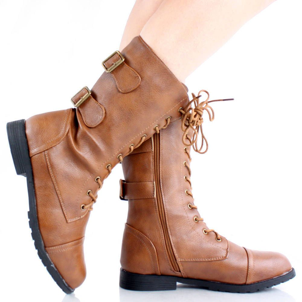 light brown combat boots for girls | Gommap Blog