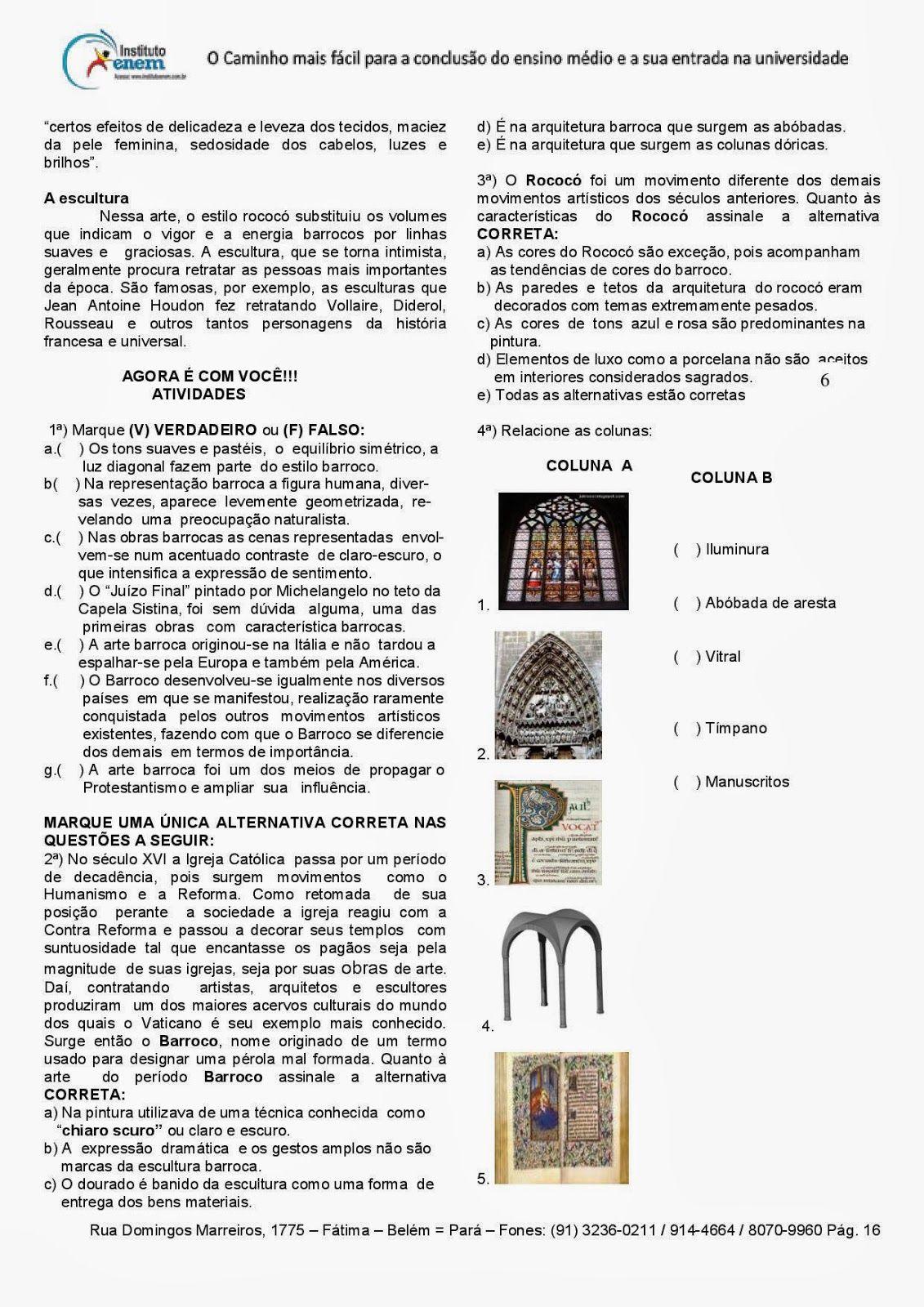 Artes Visuais Teatro E Musica Ensino Medio Atividades Imagens