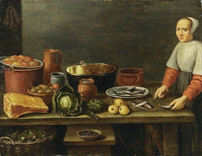 17th century Dutch kitchen scene by Schooten (With images ...