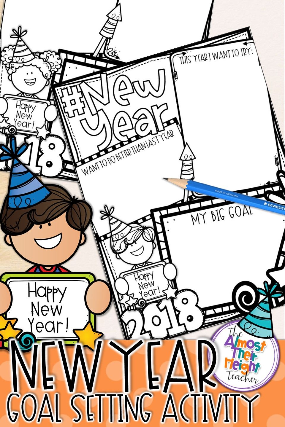 new year 2018 resolution writing activity makes a great start back to school after christmas break have your kiddos think about what they want to achieve - When Does School Start After Christmas Break