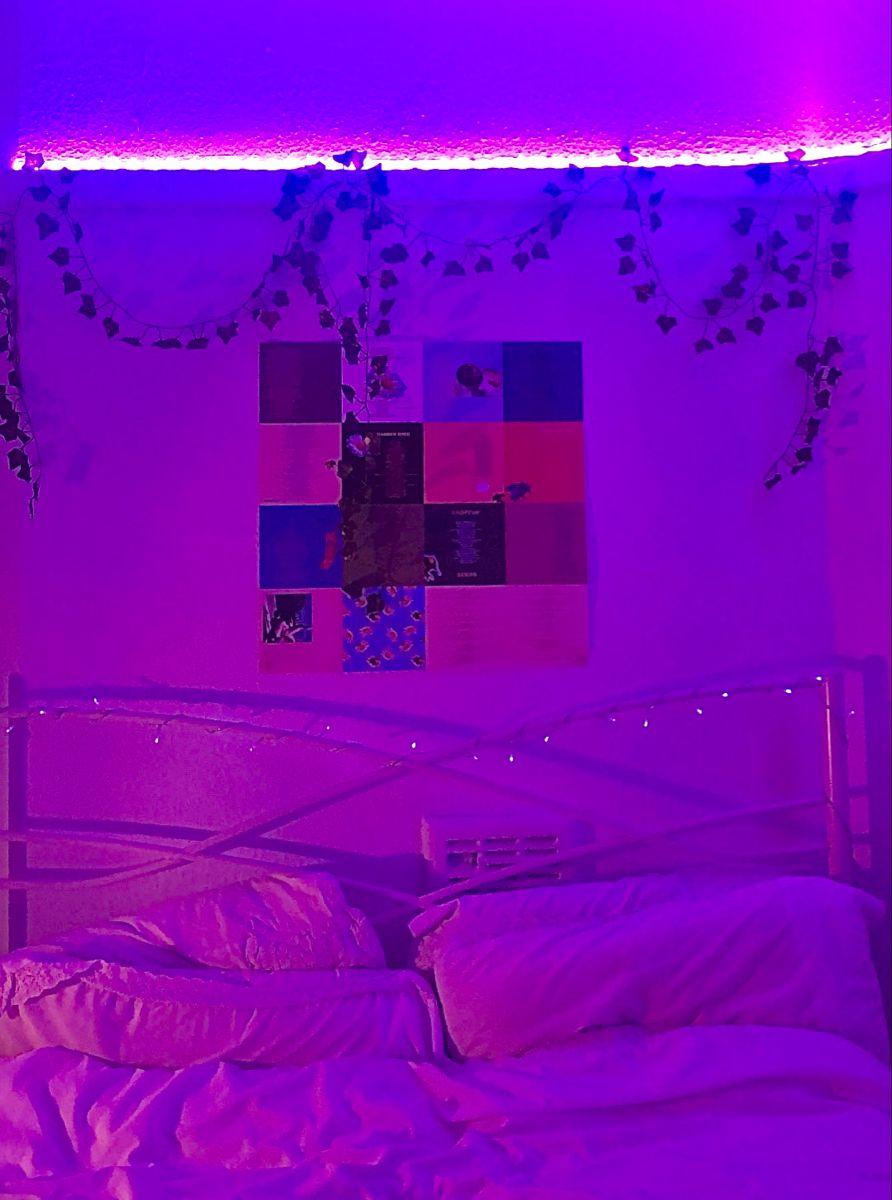 Room Inspo Inspiration Tiktok Led Lights Vines Bedroom Vibes Aesthetic Room Makeover Inspiration Bedroom Door Design Aesthetic Bedroom