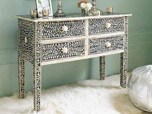 Bone Inlay Console Table|Mother Of Pearl Inlay Consol Table|Mop Inlay Table  From India|Bone Inlaid Consol Table| Bone Furniture India| Conso.