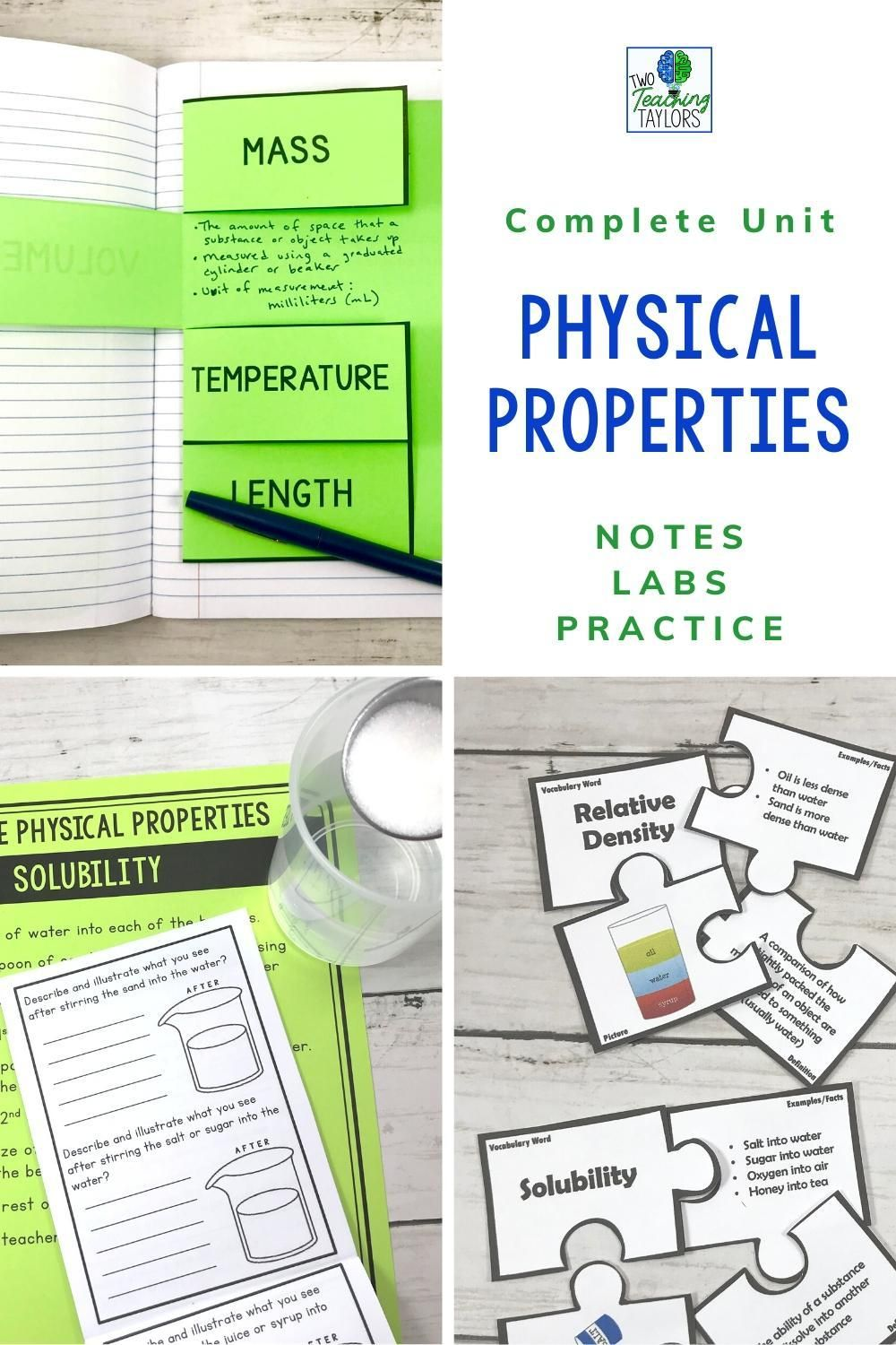 Physical Properties of Matter Activities Bundle   Physical properties of  matter [ 1500 x 1000 Pixel ]