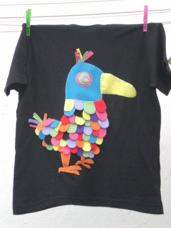 Camisetas decoradas fieltro