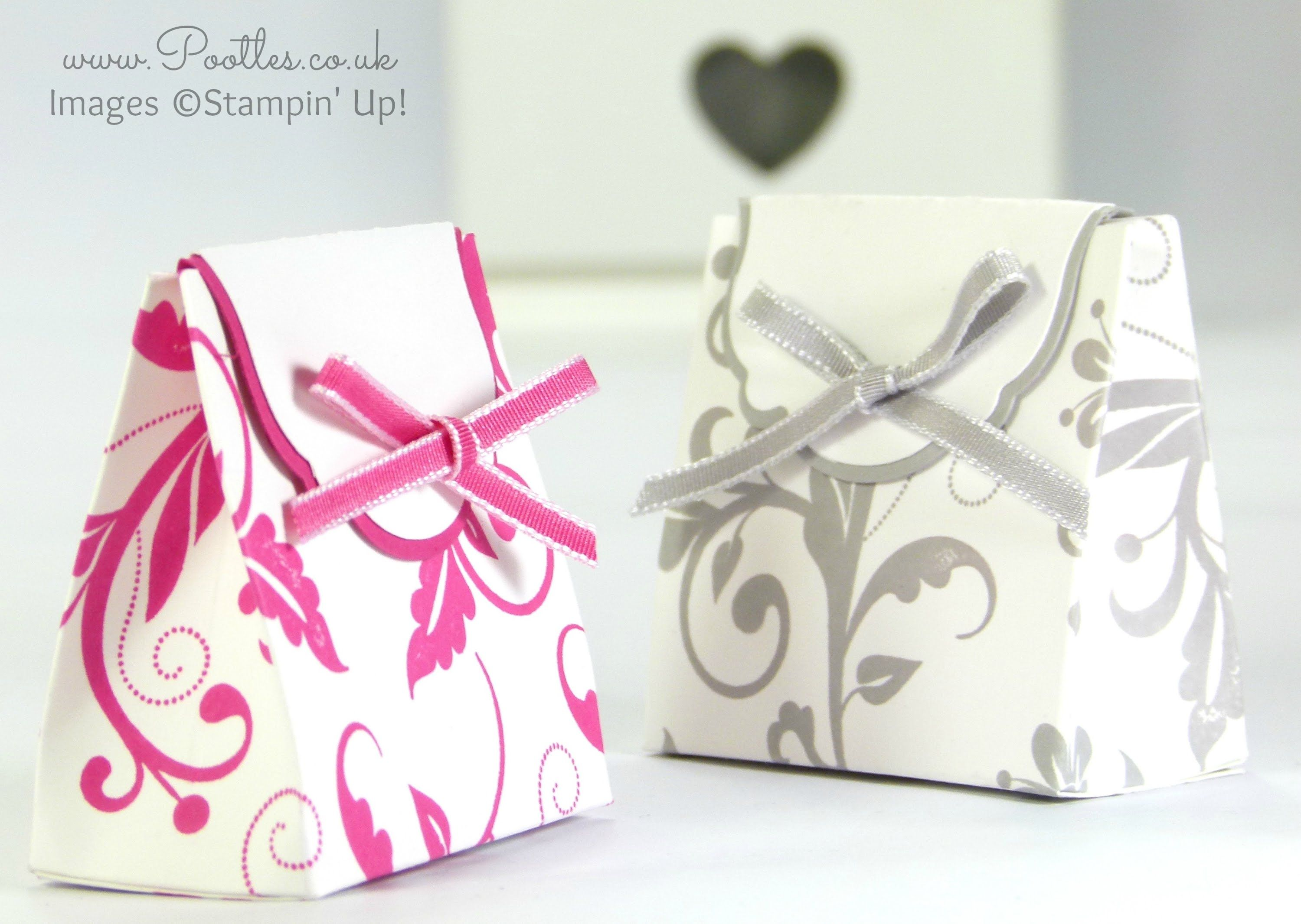 Wedding Favour Box Tutorial Using Stampin Up Supplies Bagsboxes