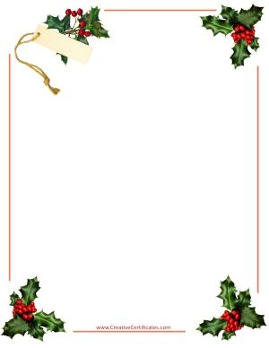 Holly border   Free christmas borders, Christmas images ...