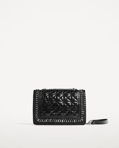 0d0bcd2c76 Image 2 of QUILTED LEATHER CROSSBODY BAG from Zara   zara   Quilted ...