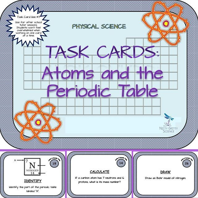 Atoms and the Periodic Table Physical Science Task Cards Periodic - new periodic table download