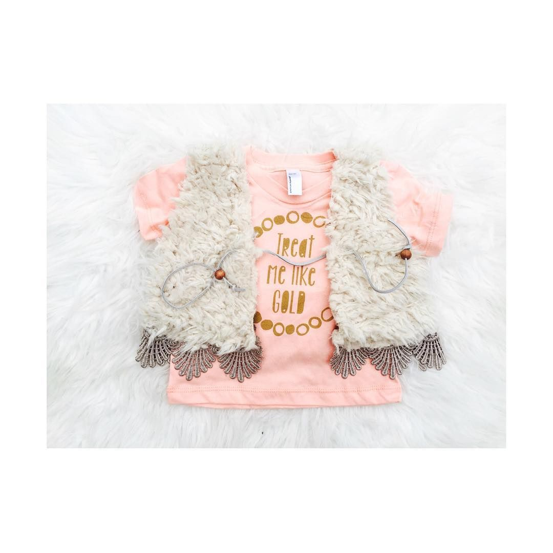 """THE + HALTERED + THREAD  on Instagram: """"Our (soon to be released) crochet teddy bear vest + @wittlecouture """"treat me like gold"""" tee is a match made in HAVEN! """""""