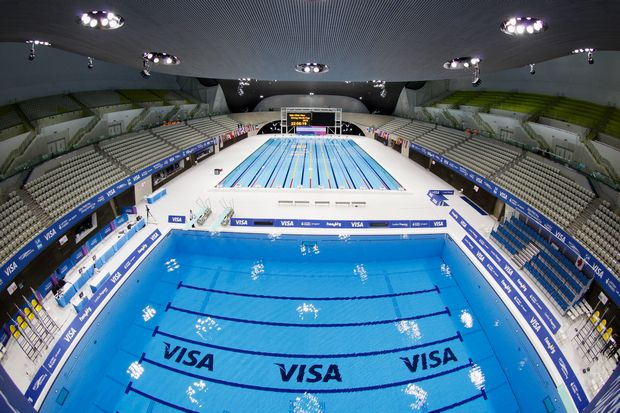 A View Of The Aquatics Centre From The Top Of The 10m Diving Platform During The 18th Fina Visa Diving World Cup Getty A Diving World Olympics Olympic Games