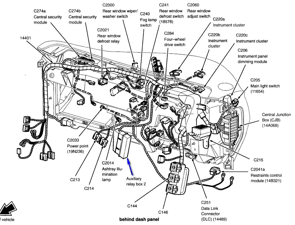 1998 Ford Explorer Gem Module Ford Explorer Ford Instrument Cluster