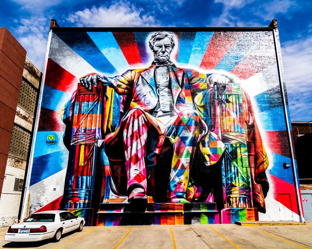 Lincoln Street Art Mural By Brazilian Artist Eduardo Kobra In Lexington Kentucky Street Art City Prints Mural
