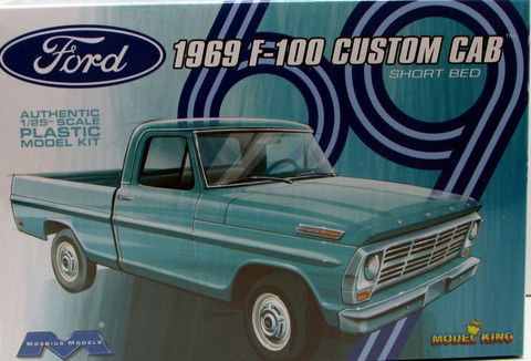 1969 Ford F 100 Pickup Moebius Models 1 25 New Truck Model Kit