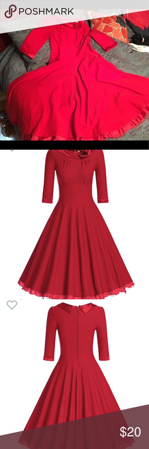 Womenus vintage sleeve rockabilly swing dress my posh picks