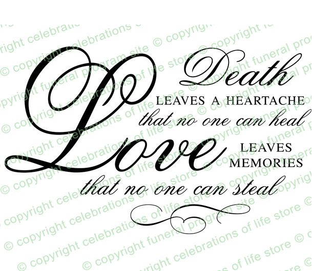 Funeral Poems : Death Is A Heartache Funeral Poem Elegant