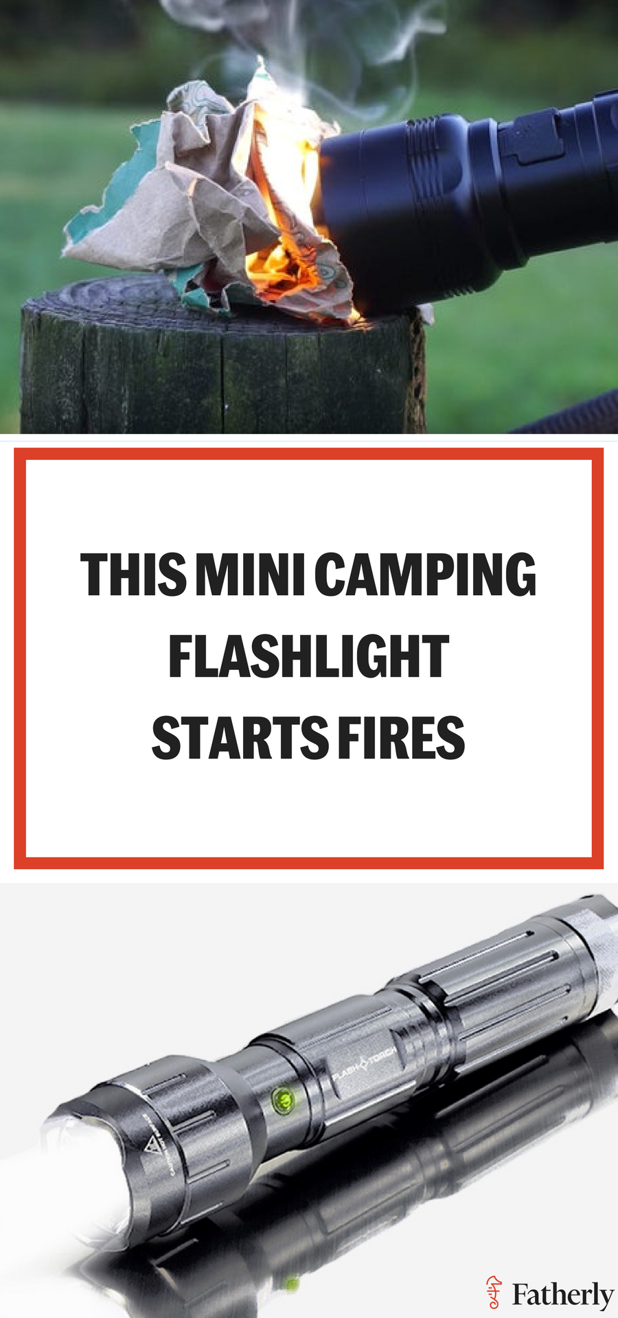 Photo of This Is The Camping Flashlight That You Can Literally Light Fires With