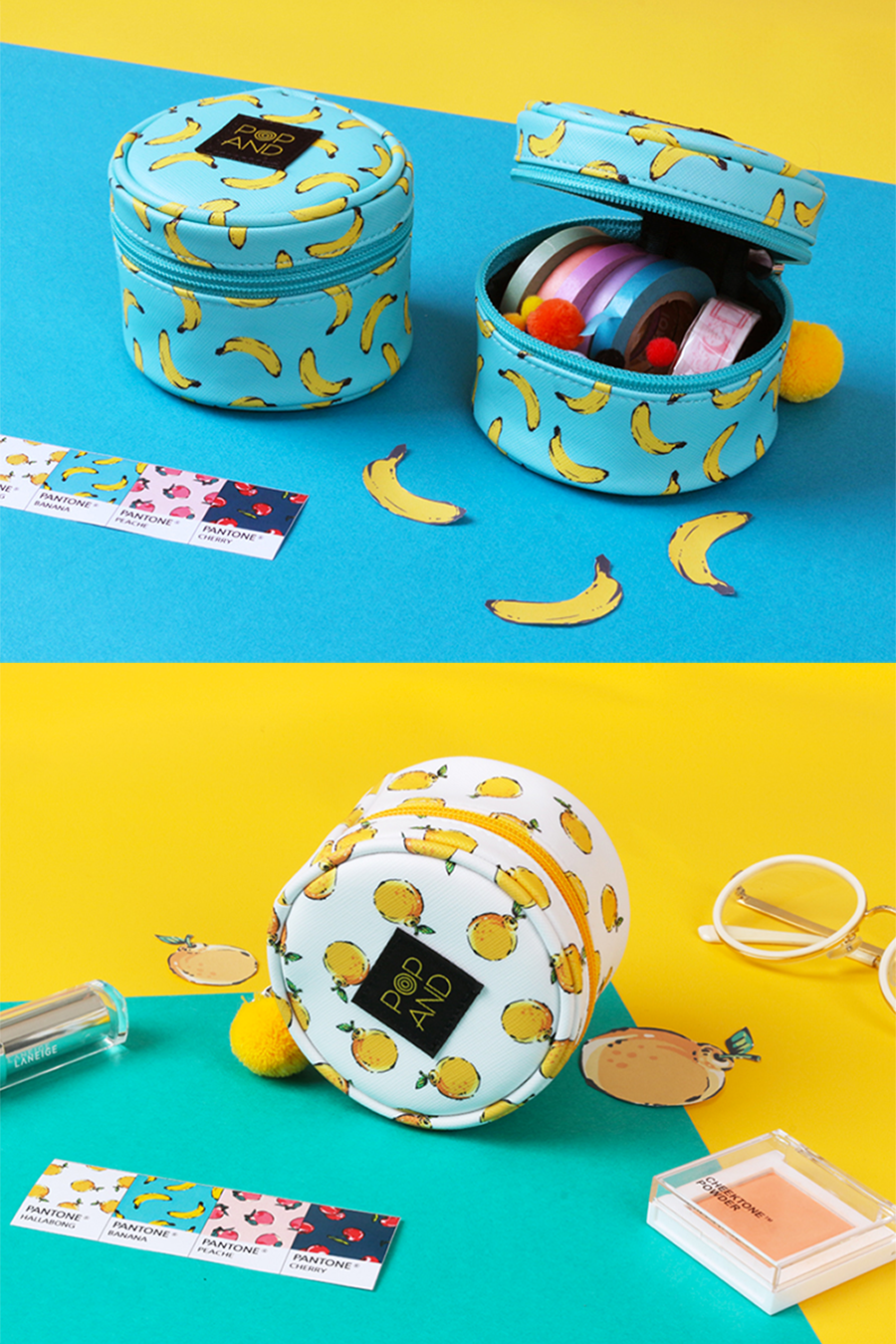 Once you use it once, you'd be surprised at how much item this can hold and help you stay organized. The POPAND Pom Pom Round Pouch is a colorful companion that'll stay with you for a long time.
