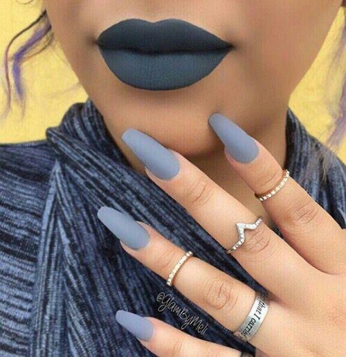 dark blue lips nails nails pinterest blue lips lips and makeup. Black Bedroom Furniture Sets. Home Design Ideas