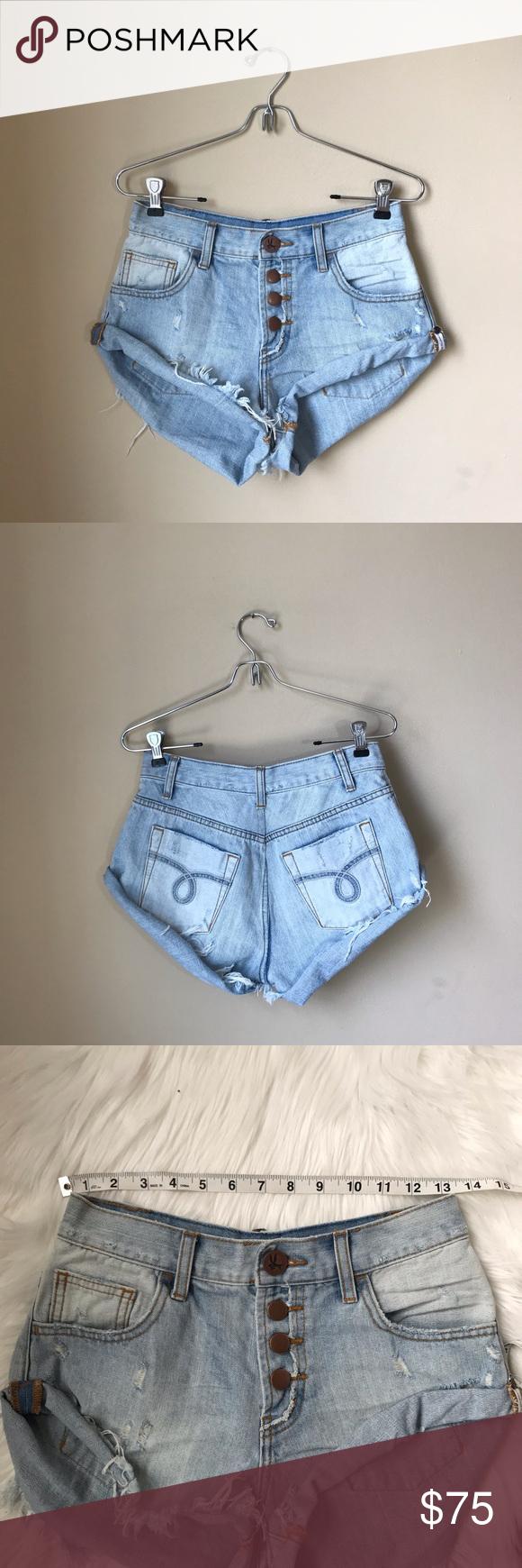 One X One Teaspoon Button Fly Bandits Denim Shorts Fashion Clothes Design Fashion Trends