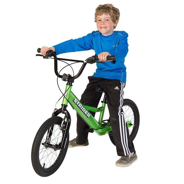 Kid on 16 inch Strider Sport